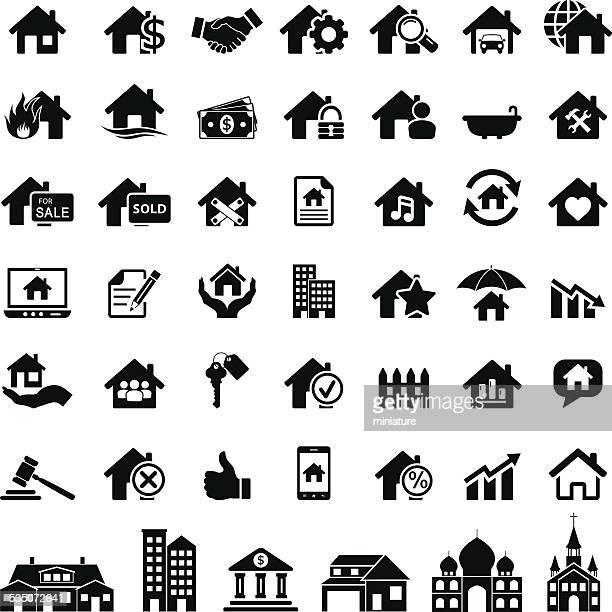 Íconos de inmobiliaria