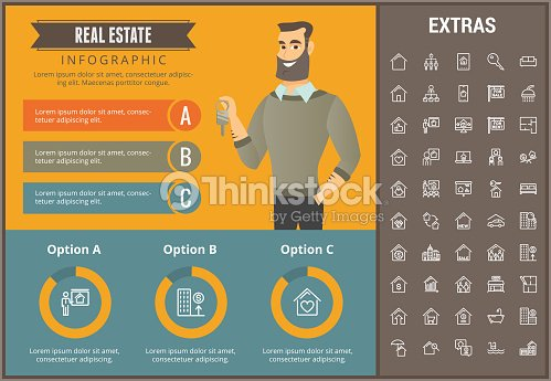 real estate infographic template elements icons vector art thinkstock