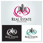 Real estate design template. Vector illustration