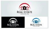 Real estate design template. Vector illustration