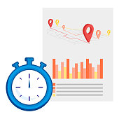 Real time location icon line element. Vector illustration of real time location icon line isolated on clean background for your web mobile app logo design.