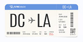 Realistic airplane template. Modern airline admission. Boarding pass illustration