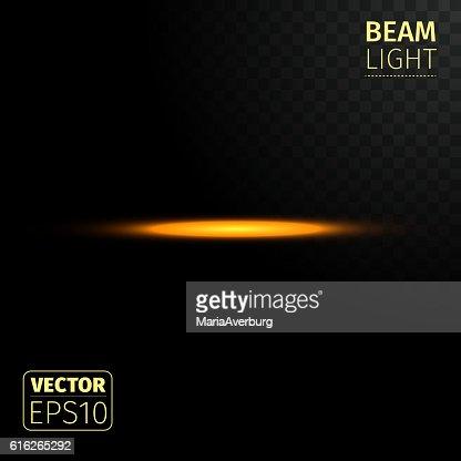 Realistic beam lights on transparent background. : Vector Art
