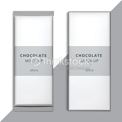 realistic blank 3d chocolate bar template design choco packaging