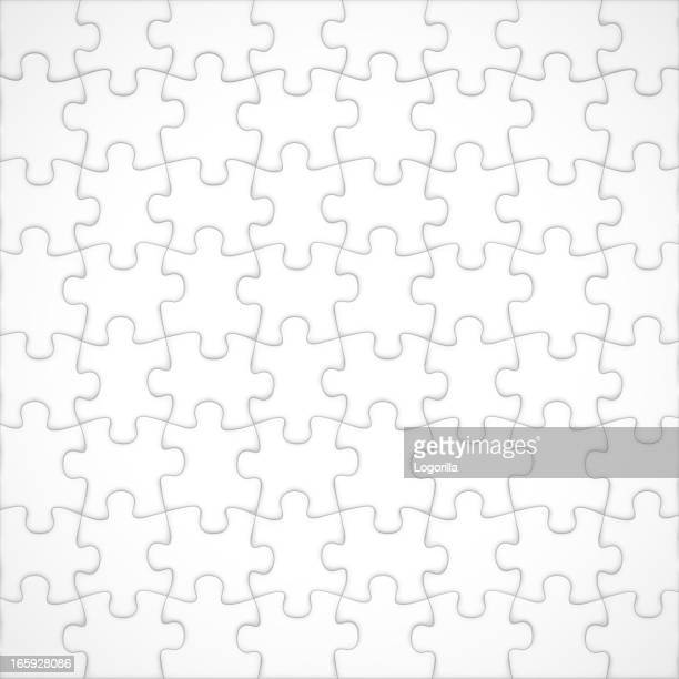 Realistic blank jigsaw puzzle