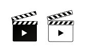 Realistic clapper.cinema.Board on a white background.film.timevector illustration
