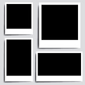 Realistic collection old photo frame - vector
