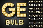 Scalable vector set of letters, numbers and symbols in bold style for digital artwork and typography