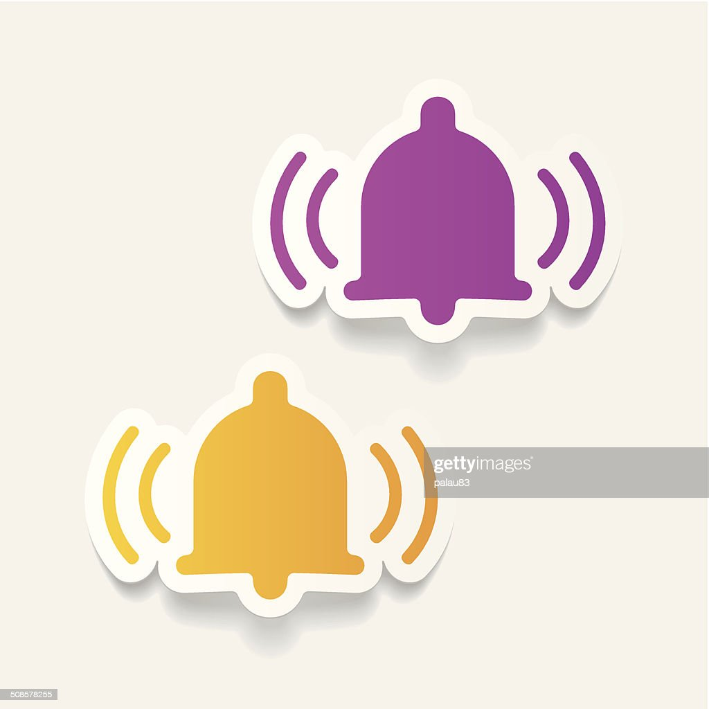 realistic design element: bell : Vector Art