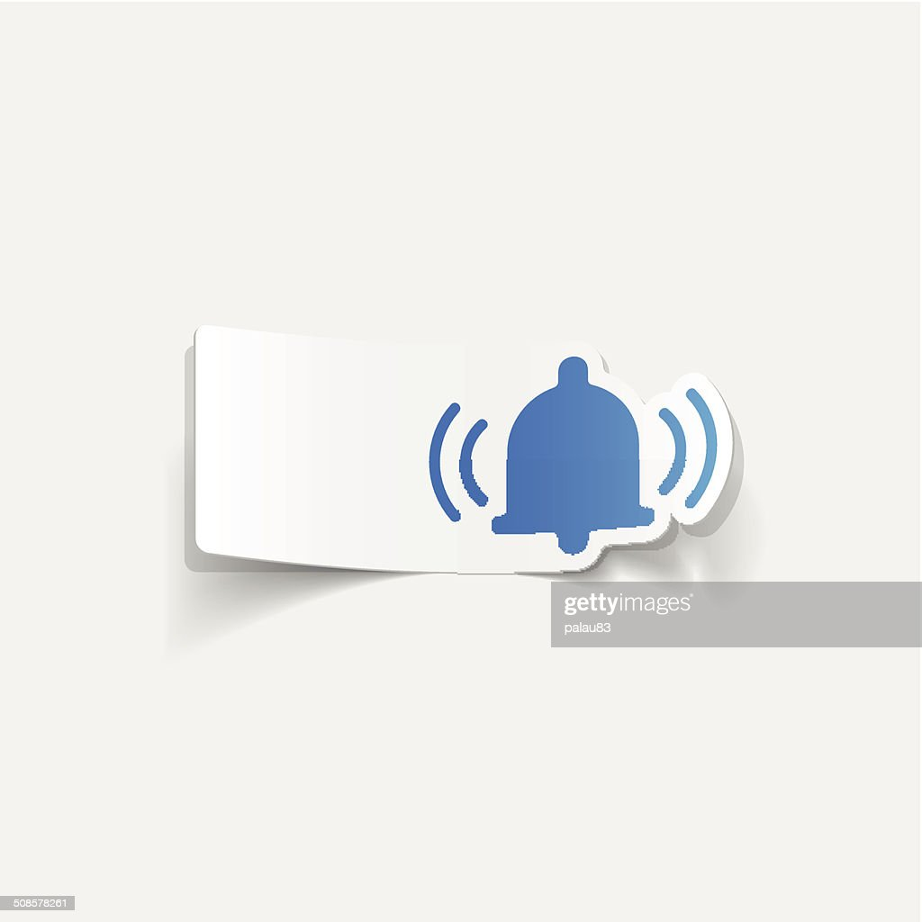 realistic design element: bell : Vectorkunst