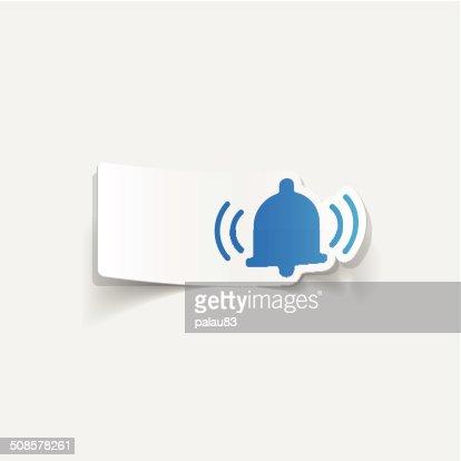 Élément de conception réaliste: bell : Clipart vectoriel