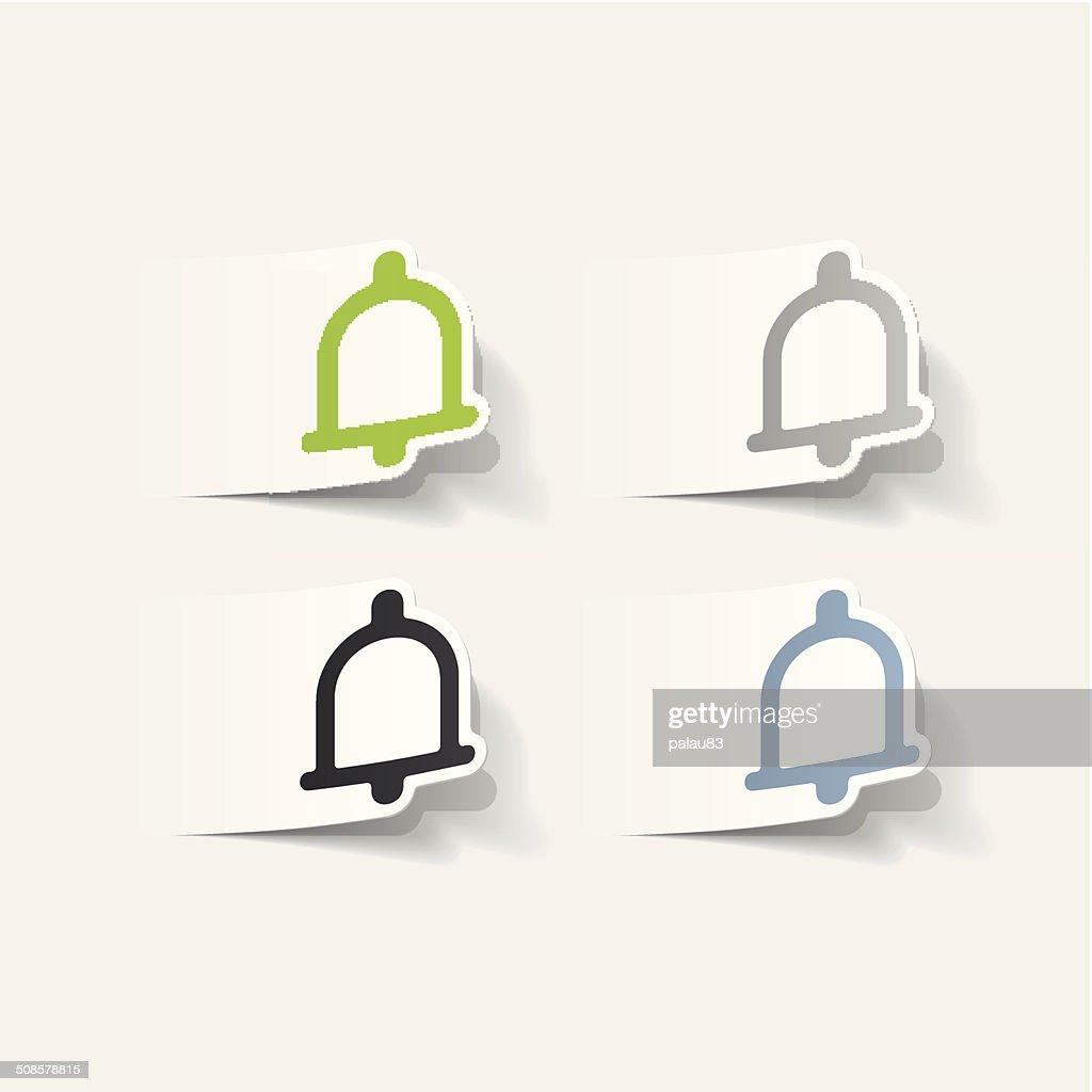 Realistico elemento di design: bell : Arte vettoriale