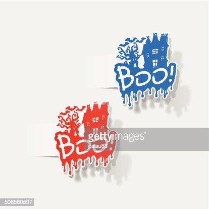 realistic design element: boo : Vector Art