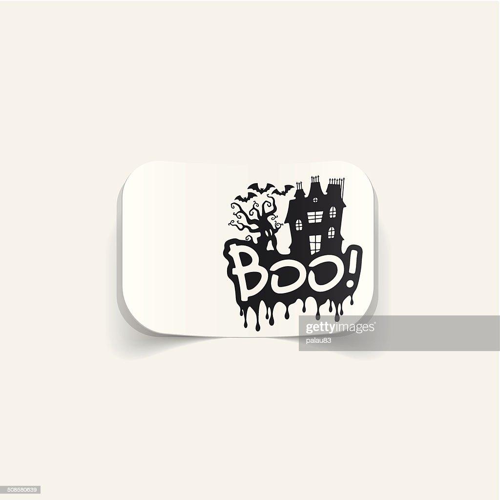 realistic design element: boo : Vectorkunst