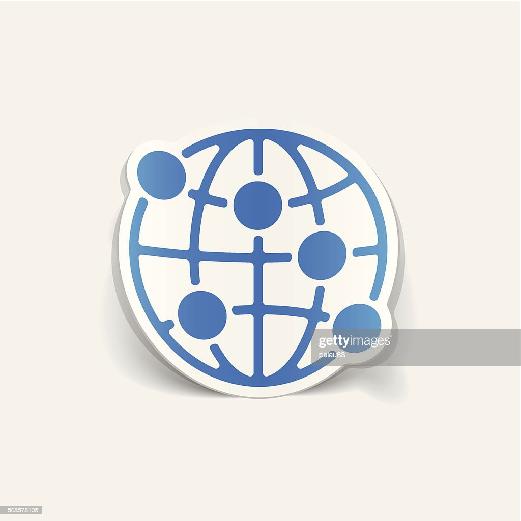 realistic design element: globe : Vector Art
