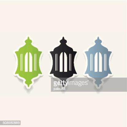 realistic design element: lantern : Vector Art