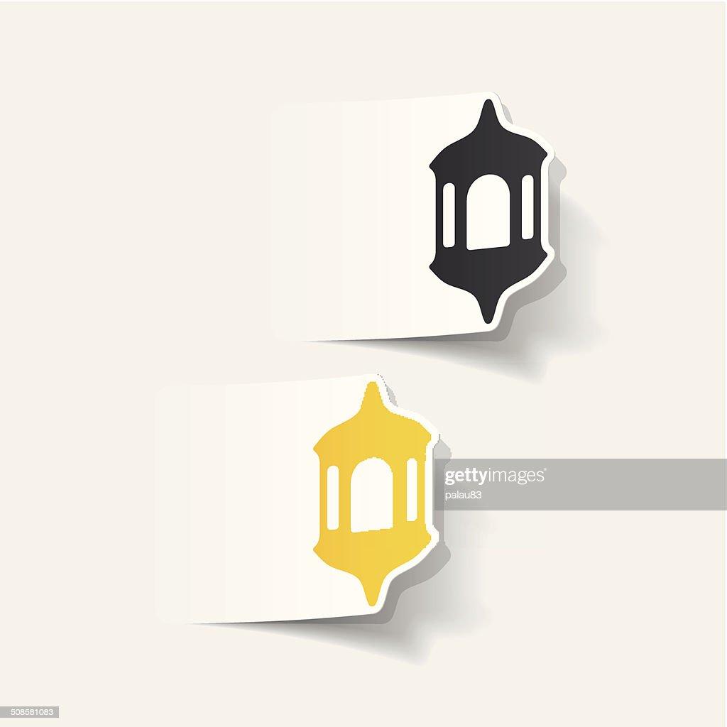 realistic design element: lantern : Vectorkunst