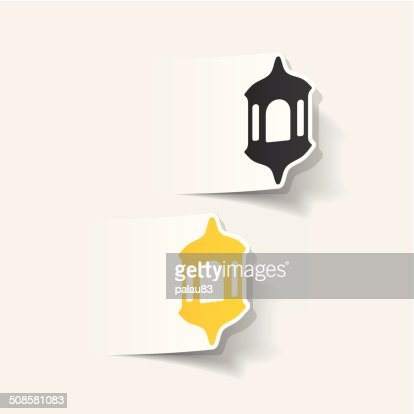 realistic design element: lantern : Vector Art