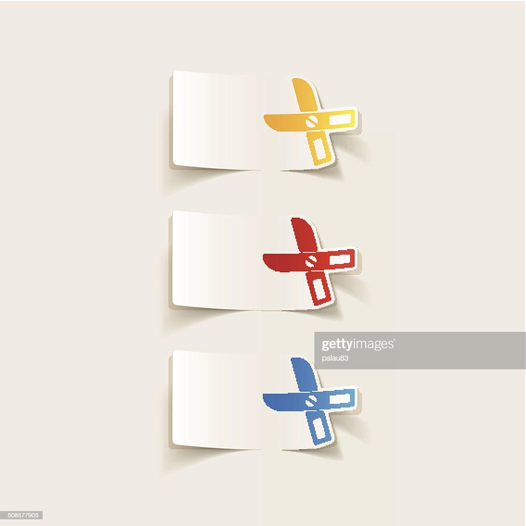 realistic design element: scissors : Vector Art