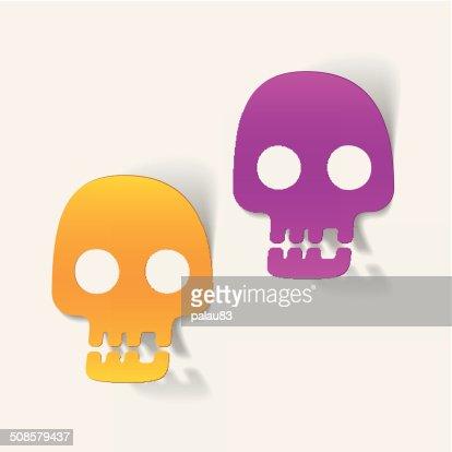 Élément de conception réaliste: De crâne : Clipart vectoriel