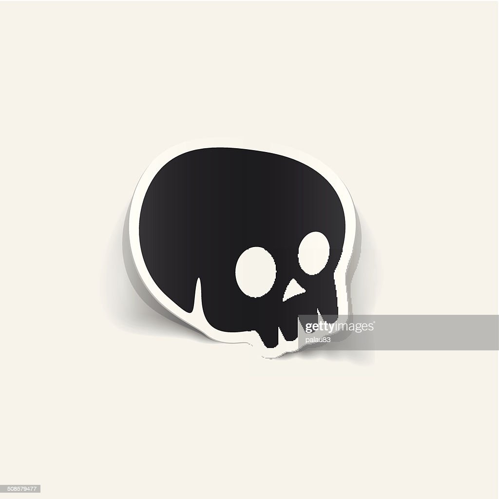 realistic design element: skull : Vector Art