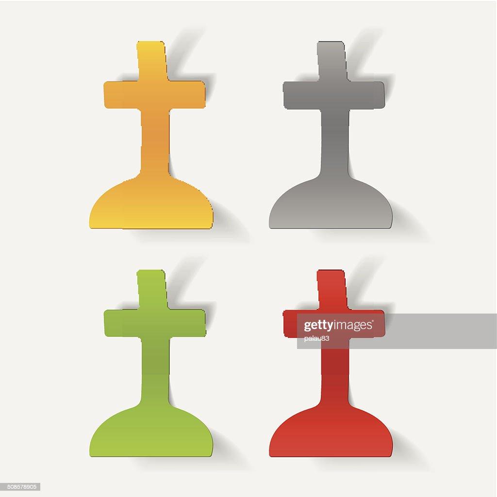 Realistische design-element: tombstone : Vektorgrafik