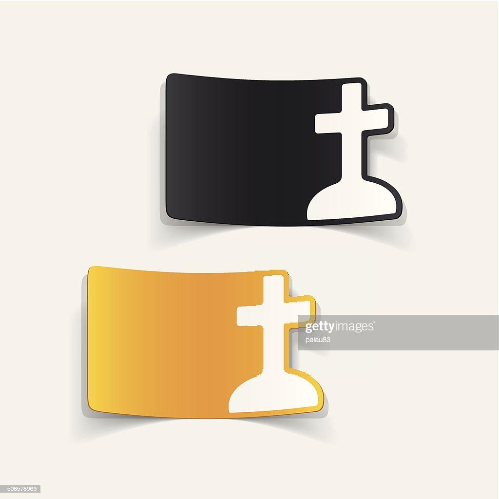 realistic design element: tombstone : Vector Art