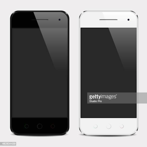 Realistic mobile phone template