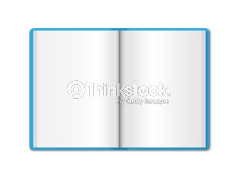 Modelo Realista 3d Había Abierto Cuaderno Azul Organizador Vertical ...