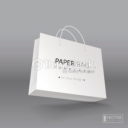 Realistic Paper Bag Template Vector Illustration Vector Art | Thinkstock