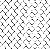 Realistic Steel Netting isolated on white background