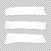 Realistic vector torn paper with ripped edges with space for your text.