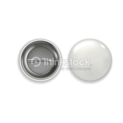 現実的なベクトルの白い光沢のあるバッジのテンプレートです丸いボタンの