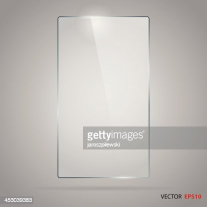 Rectangle glass frame : stock vector