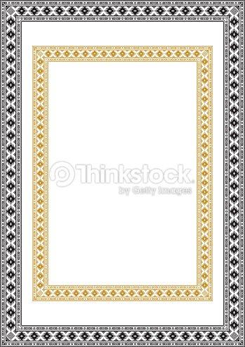Marcos Geométricos étnicos Rectangulares Colores Blanco Y Negro ...