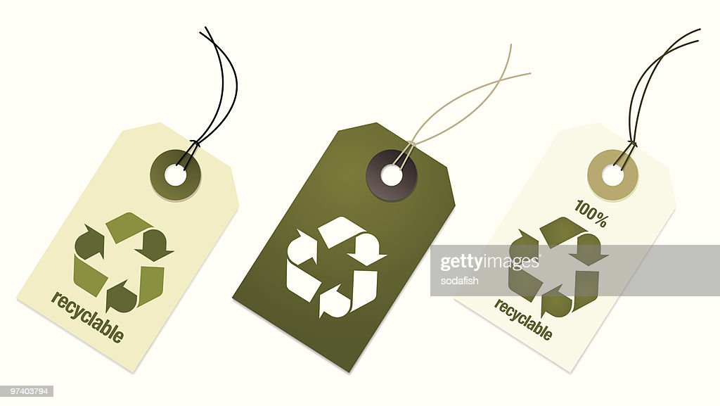 Recyclable tags : Vector Art
