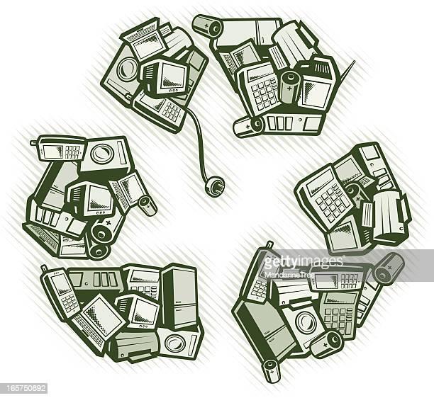 Concepto de reciclaje y WEEE