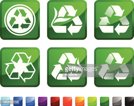 Recycle Symbol Royalty Free Vector Icon Set Stickers Vector Art