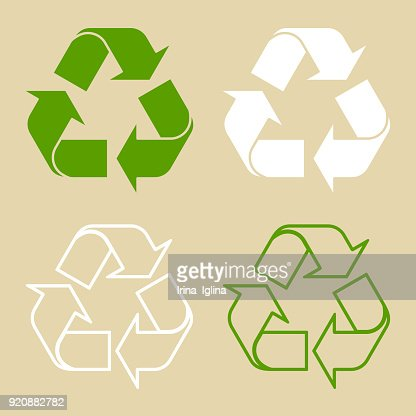 Recycle Symbol Set Isolated : stock vector