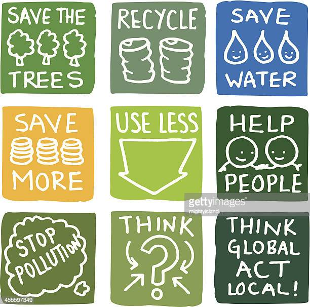 Recycling and environmental icon set