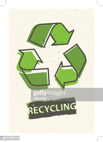 Recycling grunge vector illustration : stock vector
