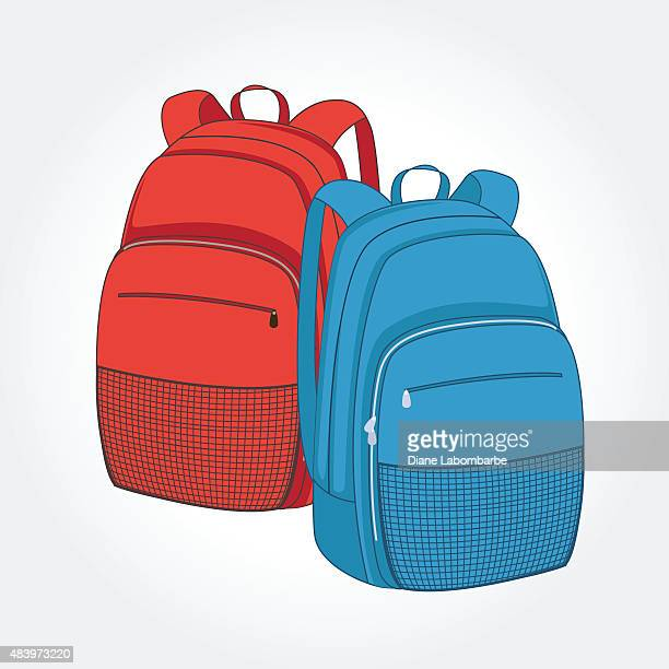 Red and Blue Back To School Backpacks