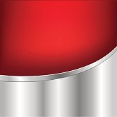 Red And Silver Background With Gradient Mesh, Vector Illustration