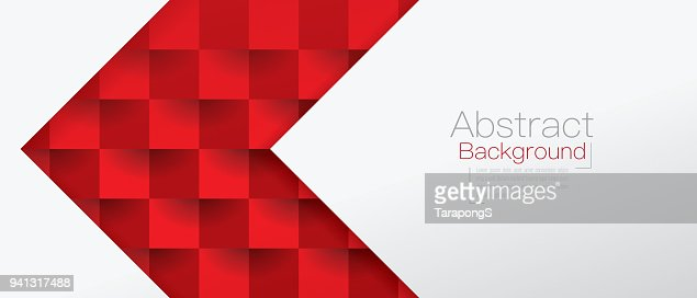 Red and white abstract background vector. : stock vector