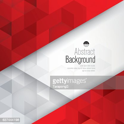 Red and white background vector. : Arte vettoriale