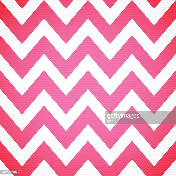 Red and white chevron design background