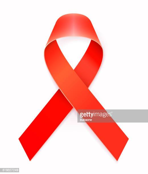 HIV AIDS Red Awareness Ribbon