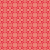 Red Background in Chinese style, vector.