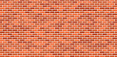Red brick wall. Background vector illustration