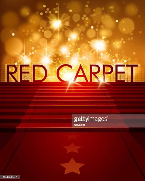 Roter Teppich Hintergrund mit Textfreiraum